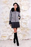 Пальто комбинированное утепленное, с 44-56, фото 1