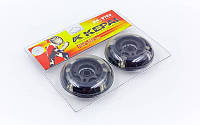 Колеса для роликов (2шт) KEPAI SK-0702 (колесо PU светящ., р-р 70х24мм, без подшипников)