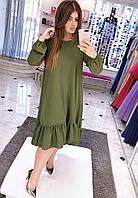 Платье (48-50) —  креп-сафари купить оптом и в розницу в одессе  7км