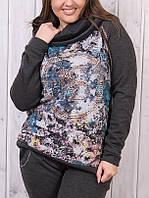 Зимний батальный тёплый спортивный костюм женский Турция