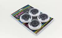 Колеса для роликов (4шт) ZELART SK-4451 (колесо PU, р-р 80х24мм, без подшипников)