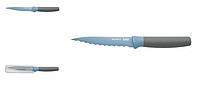 ORIGINAL BergHOFF 3950114 Нож универсальный LEO, с зубчатым лезвием и покрытием, голубой, 11,5 см