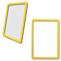 Пластиковая рамка А6 (105 х 150 мм), желтый