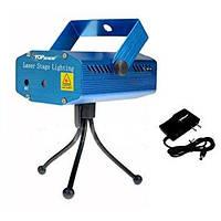 Лазерный проектор, стробоскоп,лазер диско шоу - (YX6D)