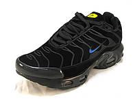 Кроссовки мужские  Nike Air Max TN  замшевые черные (р.41,46)