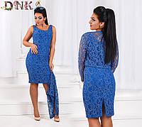 Платье+болеро №3536Г (р-р.50,52,54,56). Ткань:гипюр. Цвета в ассортименте.