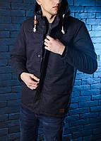 Куртка зимняя теплая, парка мужская, до - 28 черный