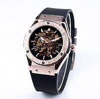 Механические часы с автоподзаводом SEWOR winner Hublot SKILETON (gold-black)