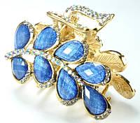 К4560-1 Краб длина 5,5см с синими камнями