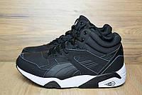 Зимние мужские ботинки+кроссовки Puma черные