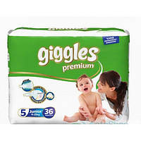 Подгузники Giggles Premium 5 (Junior 11-25 кг) 36 шт