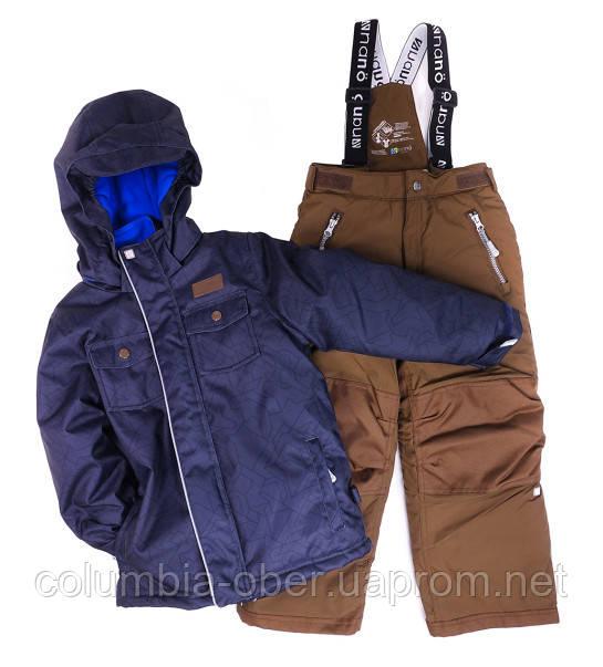 Зимний костюм для мальчика NANO 251 M F16 Navy / Cognac Taupe. Размеры 89 - 124.