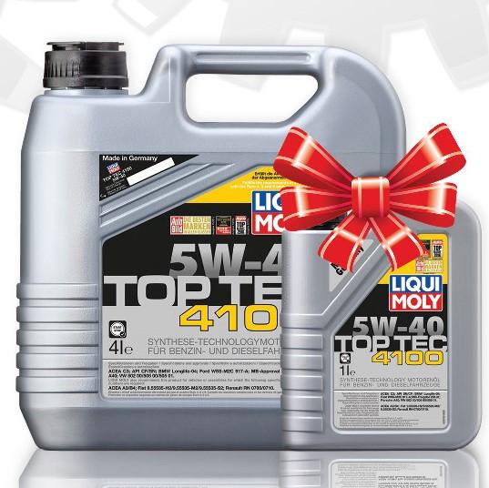 """Синтетическое моторное масло Liqui Moly Top Tec 4100 5W-40 4л+ 1л в подарок - Магазин """"АвтоТочка"""" в Кременчуге"""
