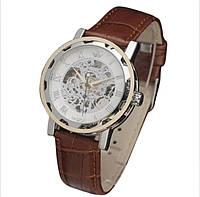 Механические часы SEWOR winner SKILETON (silver-brown-gold)