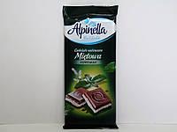 Молочный шоколад Alpinella с мятным вкусом 100г.