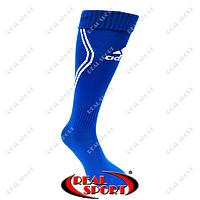 Гетры футбольные Adidas FB020129 (х-б, верх-нейлон, р-р 40-45, синий)