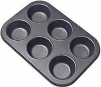 Форма для выпечки кексов 6 шт тефлон