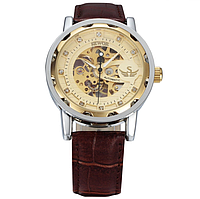 Механические часы SEWOR winner SKILETON (brown-gold)