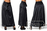 Длинная шелковая юбка в больших размерах и разных расцветках g-15BR455
