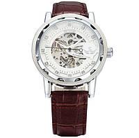 Механические часы SEWOR winner SKILETON (brown-silver)