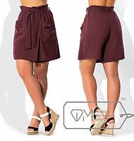 Женская летняя юбка-шорты в больших размерах (разные расцветки) z-15BR551