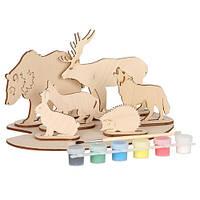 Набор для творчества «Сборная деревянная модель «Дикие животные» 70964 Вудмастер
