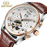 KINYUED Мужские Швейцарские Часы со скелетом Механические часы С автоподзаводом , фото 1