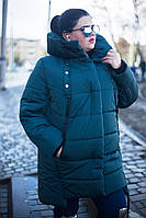 Удлиненная зимняя куртка для крупных женщин, с 42 по 82 размер, фото 1