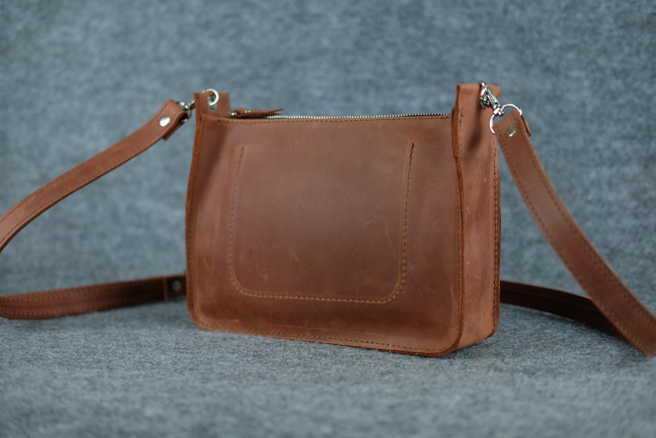 1e848b3790b9 Кожаная женская сумка Уголок через плечо   Винтажный Коньяк, цена 1 110  грн., купить в Днепре — Prom.ua (ID#532667945)