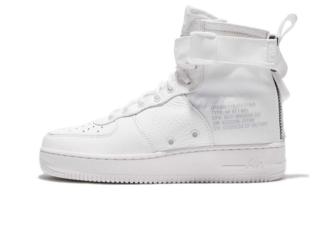 15f77a04 Женские кроссовки Nike Special Field Air Force 1 Mid Triple White (Реплика  ААА+)