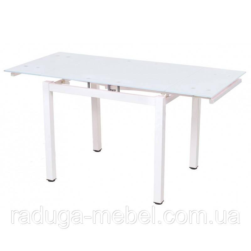 Стол кухонный обеденный стеклянный белый T-231-8