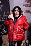 Зимняя женская куртка больших размеров л-10BR1057, фото 1