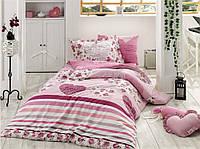 Комплект постельного белья  Hobby поплин размер полуторный Bella сиреневый