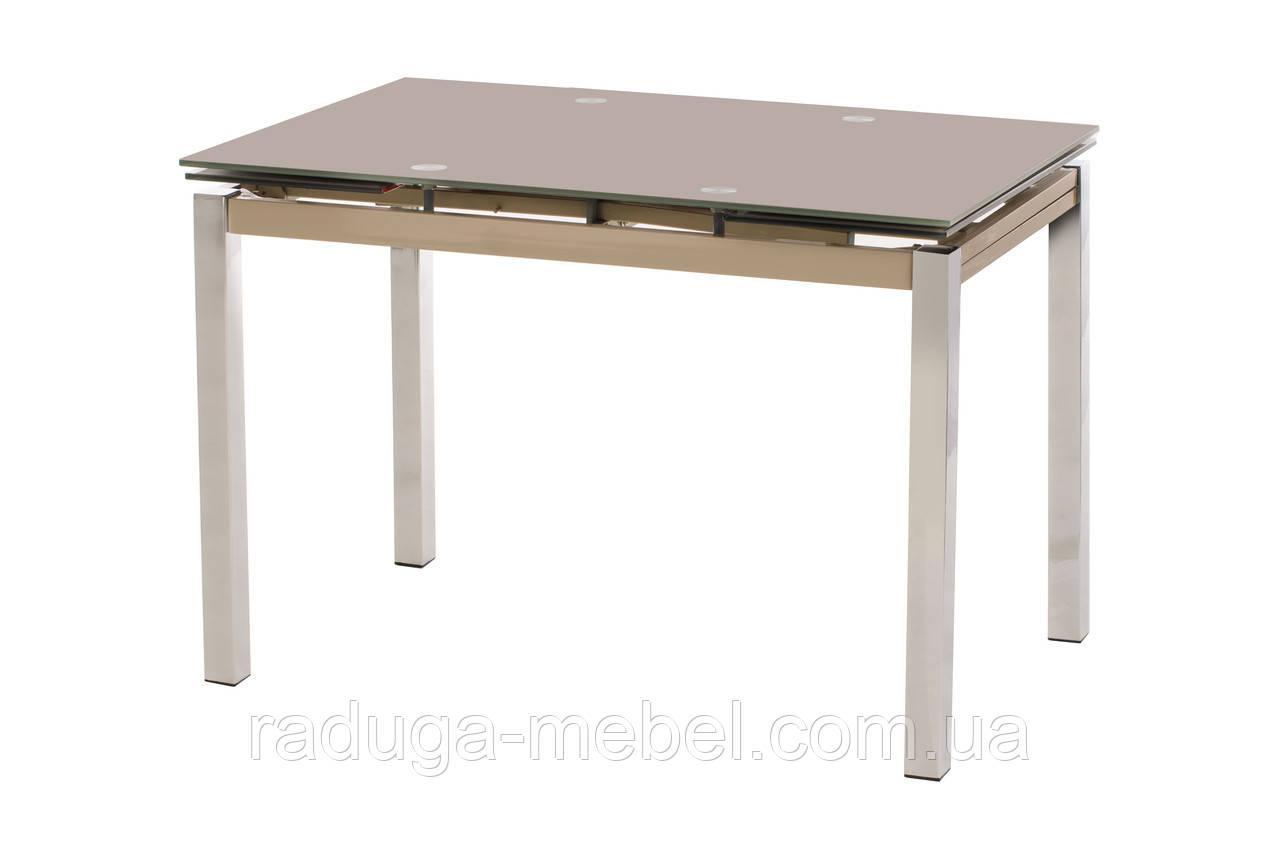 Стол кухонный обеденный стеклянный кофе мокко T-231