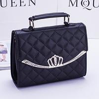 Черная сумка корона