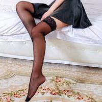 Чулки на силиконовых лентах чёрный, телесный