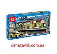 """Конструктор Lepin серия Cities 02015 """"Железнодорожный вокзал"""" (Аналог Lego City 60050) 456 деталей"""
