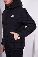 Черная куртка найк, зимняя куртка