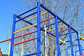 Комплекс спортивно-игровой с горкой из нержавейки и качелями уличный, фото 3