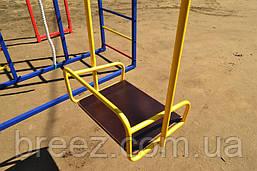 Комплекс спортивно-игровой с горкой из нержавейки и качелями уличный, фото 2