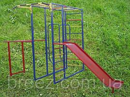 Комплекс спортивно-игровой с горкой уличный, фото 2