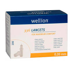 Ланцети Wellion 33g №200