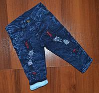 Теплые джинсы на мальчика (2-3 года)