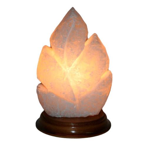 Соляная лампа Лист резной