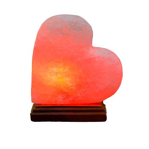 Соляная лампа Сердце малое на боку