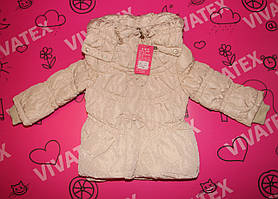Куртка для девочки Бантик кремовая