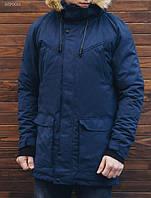 Мужская куртка - парка зимняя Staff dark blue