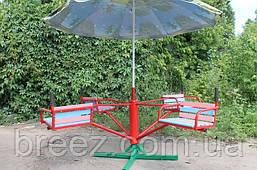 Карусель детская с зонтиком 4-местная , фото 2