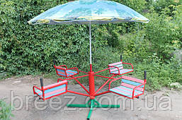 Карусель детская с зонтиком 4-местная , фото 3