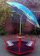 Карусель детская с зонтом 6-местная , фото 3